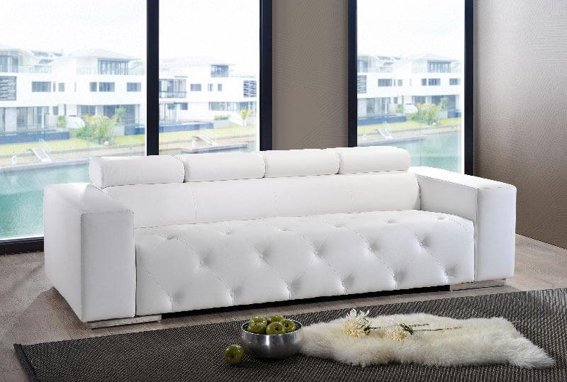 Cs145 Willie Two Seater White Leather Sofa 123 Univonna