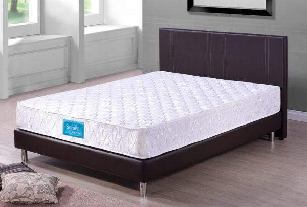 Dark brown divan bed smart spring mattress univonna for Queen size divan