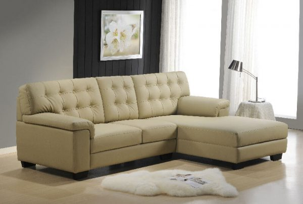 Dallas Pu Leather L-shaped Sofa
