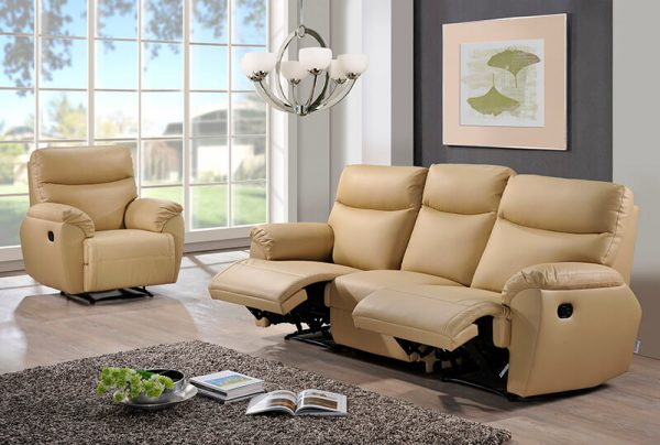 Sofa Leather U123 Clinton 1recliner W 3 Seater Recliner