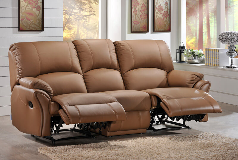 Vex Full Leather Recliner Sofa