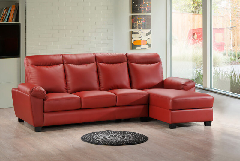 Red L Shaped Sofa Compare Prices On Shape Set
