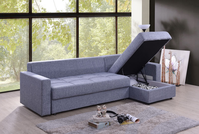 Sophia 3 Seater L Shaped Sofa Bed Univonna