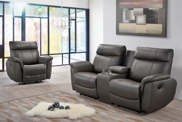Floyd Pu Leather Recliner Sofa Univonna