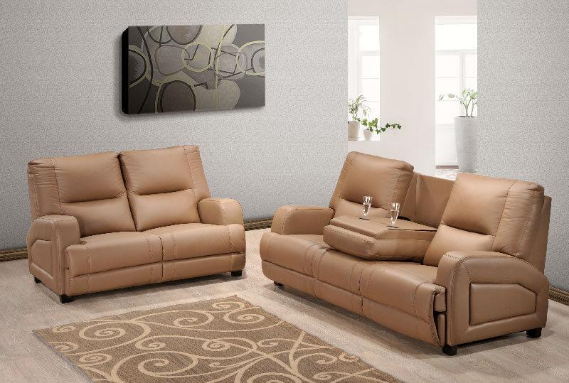 Brandon Pu Leather Sofa Univonna