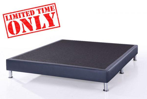 Synthetic leather divan base univonna for Queen divan bed base