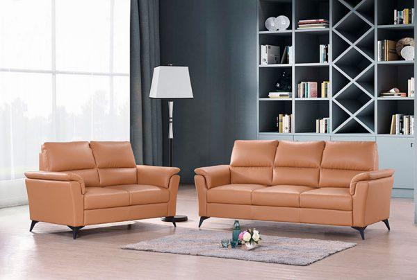 Samuel Half Leather Sofa Univonna