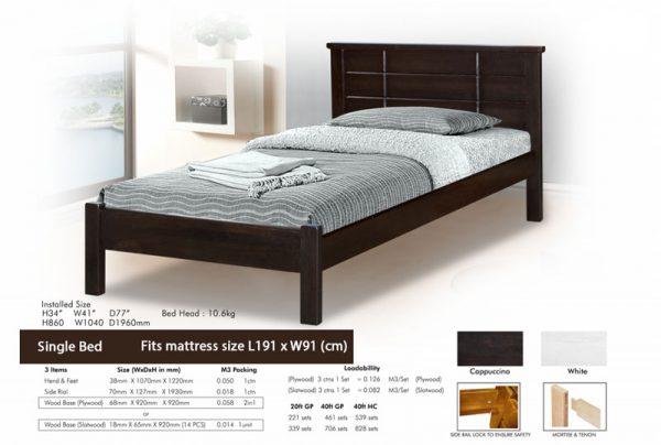 Single-wooden-bed