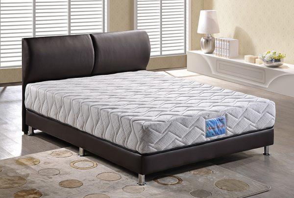 Dark brown bed