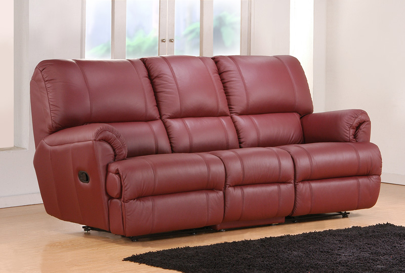 Linton Half Leather Recliner Sofa