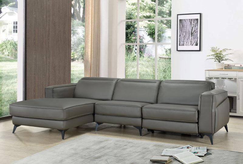 Aliana Full Leather L Shape Sofa Univonna, L Shape Sofas Leather