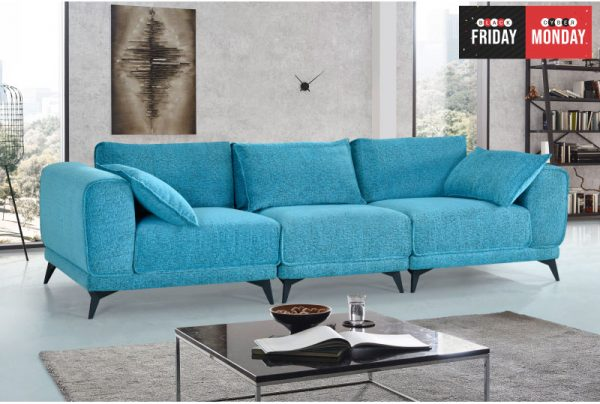 Caicy Premium Fabric 3 Seater Sofa Univonna